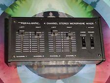 Vtg Realistic 4 Channel Mono (2 Channel Stereo) Microphone Mixer NO. 32-1105