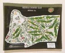 Vintage Medinah Country Club Illinois - Souvenir Glass Tray Golf Course No. 3