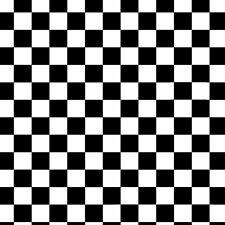 1.5M x 1.52M Black & White Racing Checked Vinyl Wrap Hot Rod Workshop Sticker