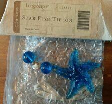 Longaberger Starfish Tie-on Nip Blue with beachy beads
