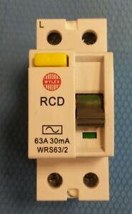 WYLEX WRS63/2 63AMPS 30MA 230V 63A RCD WRS63