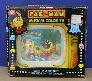 Ohio Art 372 Pac-Man Musical Color TV w Music Box Exc Works Boxed 1983