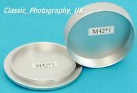 M42 Camera Body Cap for EDIXA / Praktica + Rear Lens Cap ZEISS Schneider Lenses