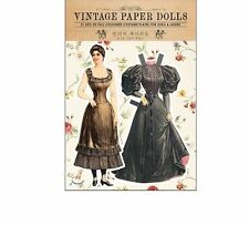Vintage Paper Doll Book Gift DIY Craft Play Girl Lady Fashion Dress