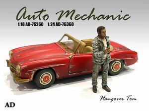 American Diorama 1:24 Scale (7.5cm) Mechanic Figure - Hangover Tom # AD-76360