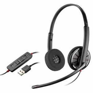 New Plantronics Blackwire C320M USB Binaural Headset - P/N 85619-101