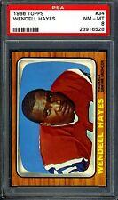 1966 Topps #34 Wendell Hayes PSA 8 NM-MT *Denver Broncos*