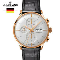 Junghans Meister Chronoscope 027/7323.00 Black Leather Watch for Man &Woman