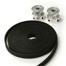 Aluminum GT2 20T Timing Pulleys 2pcs 2 Meters 6mm Belt for 3D Printer