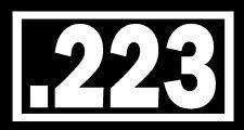 .223 Vinyl Decal Sticker Car Window Wall Bumper Gun Ammo AR-15 M16 Assault Rifle