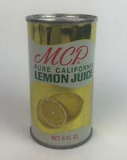 vintage MCP PURE CALIFORNIA LEMON JUICE ADVERTISING TIN