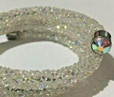 42cm  Clear coloured Sparkle Dust Crystal Tubing Bracelet.