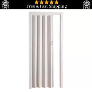 White Oak Effect Bi Folding Door PVC Panel Magnetic Sliding Accordion Concertina