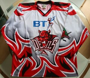EIHL - Cardiff Devils - Vintage Ice Hockey Jersey - Adult XL / XXL