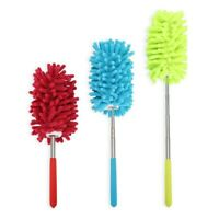 3 Set Microfiber Duster Dusting Brush with Extendable Pole Washable Duster Head