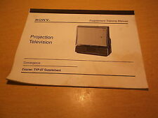 Sony Projection TV Convergence Course TUP-07 Supplement  *FREE SHIPPING*