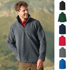 1a Fruit of the loom Herren Sweatshirt Pullover Pulli Half-Zip Fleece Sweat