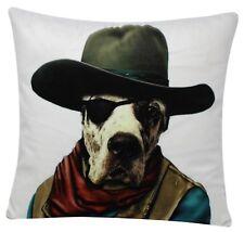 perro con sombrero de Cowboy Inspirado 17 x 17 chenilla funda cojín algodón