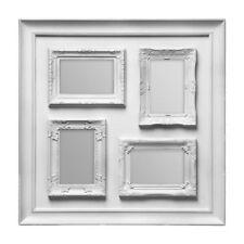 Premier Housewares 53x53cm 4 Decorative Photo Vintage Style Multi Frame Silver