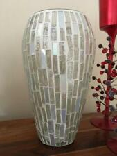Handcrafted Italian Style Silver Mosaic Effect Vase Flower Holder Home Decor