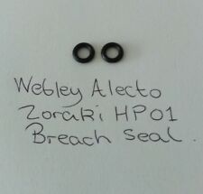 Webley Alecto / Zoraki HP-01 Air Pistol Breech / Barrel O Ring Seals x 2.