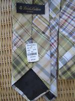 BROOKS BROTHERS Neck Tie PATCHWORK Madras Cotton Plaid Brand New! MSRP $75  USA!