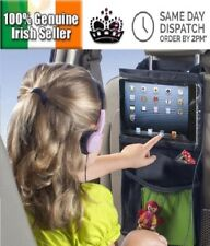 Car Backseat Organiser Touch Screen Tablet Holder Storage Pockets Seat Organizer