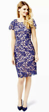 Review Sz 14 Bellevue Dress Blue/Blush Brand New With Tags (BNWT) Length 99cm