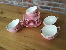 14 Teile - Melitta - 50er/60er Jahre -  Tassen, Teller - rosa