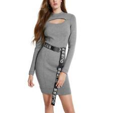 GUESS женский Шарлиз серый вырез пояс casua; платье-свитер L bhfo 7486
