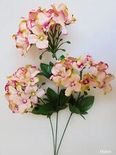 "1x 27"" Peach Pink HYDRANGEA Stem Artificial Silk Flower Plant /H07"