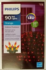 New! Philips Led 90 ct Net Lights - Orange 4ft X 4ft