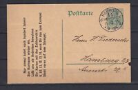 "GERMANY 1910, Deutches Reich, Watermark - ""DIR"", unusual cancellation"