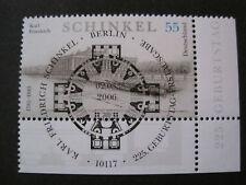 Bund MiNr. 2527  Ersttag  Berlin gestempelt  Eckrand  (J 011)