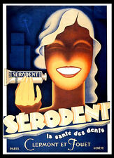 A3 - Wall POSTER Print Art - Serodent Toothpaste Art Deco Retro Advert -#1