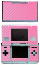 Pink Carbon Fiber Vinyl Decal Cover Skin Sticker Cover for Nintendo DS Original