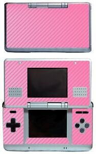 Pink Carbon Fiber Vinyl Decal Cover Skin Sticker Cover for Nintendo DS Original