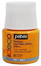 PEBEO DECO Acrylic Matt Paint 45ml MANGO Mangue 81 Wood Cardboard Plaster