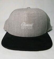 Element Grey Black Snapback Hat - Size Osfa