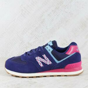 Womens New Balance 574 Classic Navy Trainers (TGF56) RRP £69.99