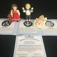 Set of 3 VTG 1993 Ashton Drake Heirloom Miniature Doll Ornaments Yolanda Bello 2