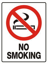 """Safety Sign """"NO SMOKING 5mm corflute 300MM X 225MM"""""""
