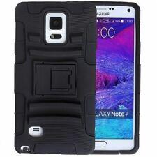 Protective Black Silicone Plastic Armor Case For  Samsung Galaxy Note 4