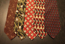 Lot of 5 NEW Austin Grey Designer Neck Ties with Patterns LD009