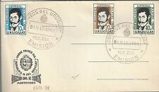 Uruguay 1961 FDC Scott 671 & 73