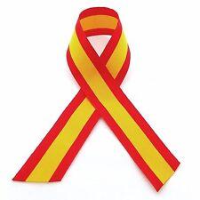 Cinta bandera España para COCHE (retrovisor) o MOTO tela poliester 24mm