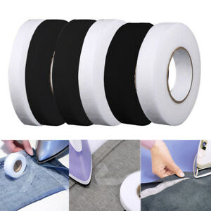 White Healifty Fabric Fusing Tape Hem Tape Double-Sided Film Adhesive Iron On Tape for Jeans Trousers Garment Clothes