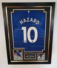 *** EDEN HAZARD of Chelsea Signed Shirt Autographed Jersey Display *** AFTAL COA