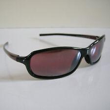 Maui Jim 107-07 WHITECAP Black/Burgundy Sunglasses Rose Lens NO CASE