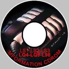 HOLDEN V8 LS1-LS2-LS3-L98-LQ4-LQ9 V8 CV8 HSV ENGINE WORKSHOP REPAIR,MODIFING CD